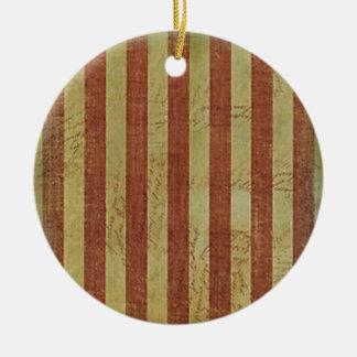 Weathered Treasure Map Ceramic Ornament