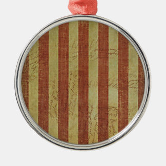 Weathered Treasure Map Metal Ornament