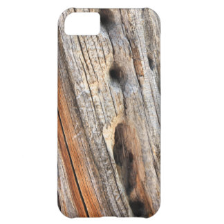 Weathered tree trunk with knotholes iPhone 5C cover