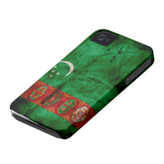 Weathered Turkmenistan Flag iPhone 4 Case-Mate Case