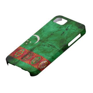Weathered Turkmenistan Flag iPhone SE/5/5s Case