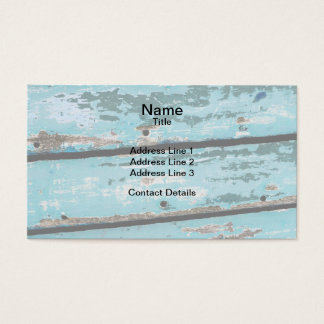 Weathered Turquoise Boat Business Card