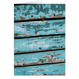 Weathered Turquoise Boat Card