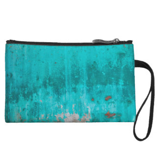 Weathered turquoise concrete wall texture wristlet