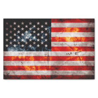 "Weathered Vintage American Flag 10"" X 15"" Tissue Paper"