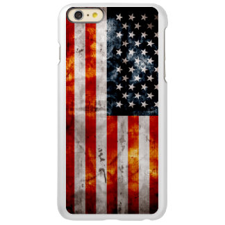 Weathered Vintage American Flag Incipio Feather® Shine iPhone 6 Plus Case