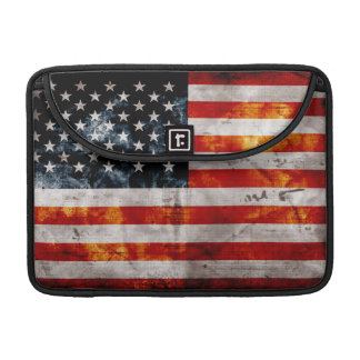 Weathered Vintage American Flag Sleeve For MacBook Pro