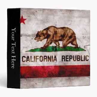 Weathered Vintage California State Flag Binder