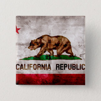 Weathered Vintage California State Flag Button