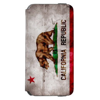 Weathered Vintage California State Flag iPhone 6/6s Wallet Case