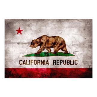 Weathered Vintage California State Flag Photo Print