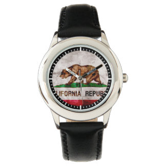 Weathered Vintage California State Flag Wristwatch