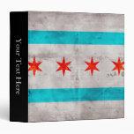 Weathered Vintage Chicago State Flag Binder