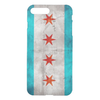 Weathered Vintage Chicago State Flag iPhone 7 Plus Case