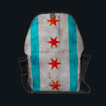 """Weathered Vintage Chicago State Flag Small Messenger Bag<br><div class=""""desc"""">Feel free to modify the design according to your own preferences. You may change the design location, orientation, background colors and size. Also, you may add your own text, or slogan set its font, location and size, all in order to create the ultimate personal gift for you and your loved...</div>"""