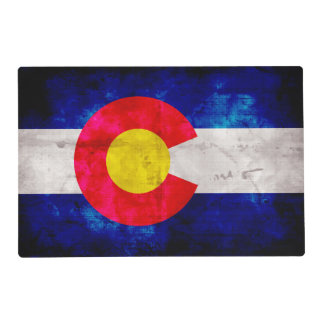 Weathered Vintage Colorado State Flag Placemat