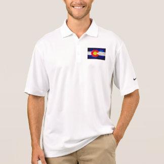 Weathered Vintage Colorado State Flag Polo Shirt