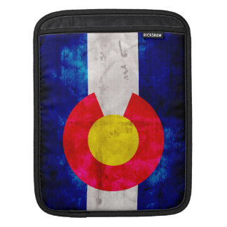 Weathered Vintage Colorado State Flag Sleeve For iPads