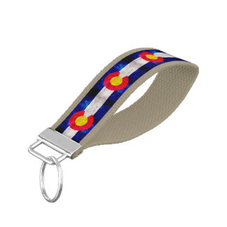 Weathered Vintage Colorado State Flag Wrist Keychain