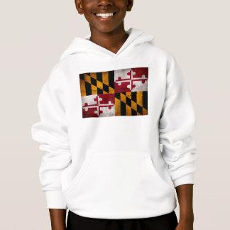 Weathered Vintage Maryland State Flag Hoodie