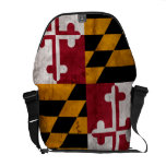 Weathered Vintage Maryland State Flag Messenger Bag