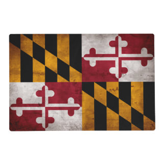 Weathered Vintage Maryland State Flag Placemat