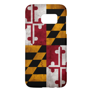 Weathered Vintage Maryland State Flag Samsung Galaxy S7 Case