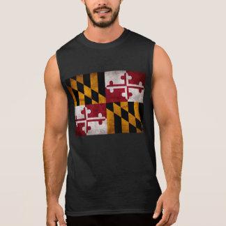 Weathered Vintage Maryland State Flag Sleeveless Shirt
