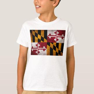 Weathered Vintage Maryland State Flag T-Shirt
