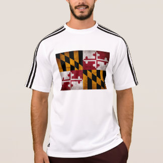 Weathered Vintage Maryland State Flag T-Shirt