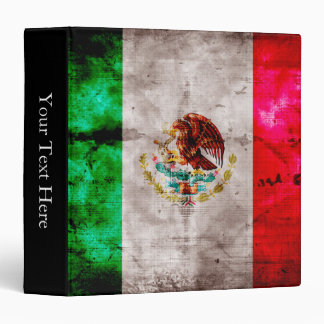 Weathered Vintage Mexico Flag Binder