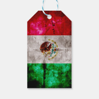 Weathered Vintage Mexico Flag Gift Tags