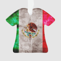 Weathered Vintage Mexico Flag Ornament at Zazzle