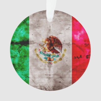 Weathered Vintage Mexico Flag Ornament