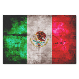 Weathered Vintage Mexico Flag Tissue Paper