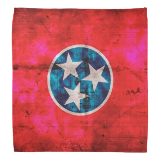 Weathered Vintage Tennessee State Flag Bandana