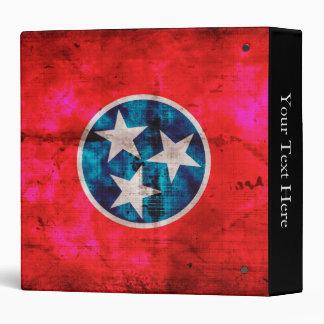 Weathered Vintage Tennessee State Flag Binder