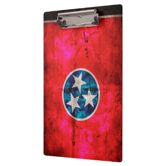 Weathered Vintage Tennessee State Flag Clipboard