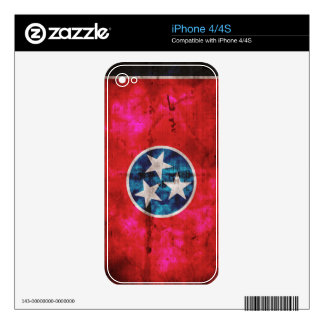 Weathered Vintage Tennessee State Flag Decals For The iPhone 4S