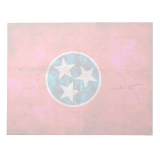 Weathered Vintage Tennessee State Flag Notepad