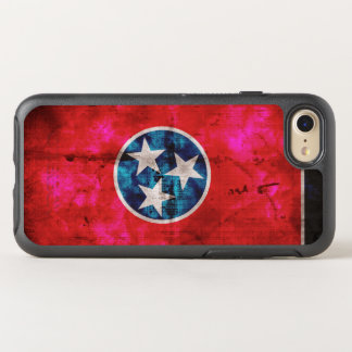Weathered Vintage Tennessee State Flag OtterBox Symmetry iPhone 7 Case