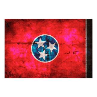 Weathered Vintage Tennessee State Flag Photo Print