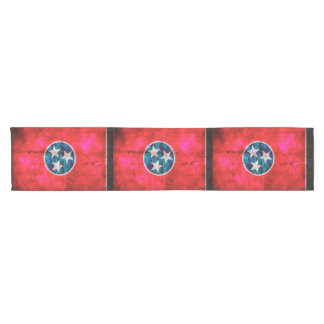 Weathered Vintage Tennessee State Flag Short Table Runner