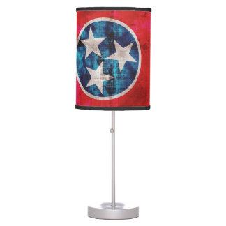 Weathered Vintage Tennessee State Flag Table Lamp