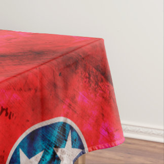 Weathered Vintage Tennessee State Flag Tablecloth