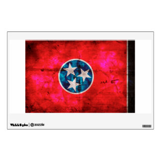 Weathered Vintage Tennessee State Flag Wall Sticker