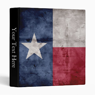 Weathered Vintage Texas State Flag Binder