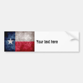 Weathered Vintage Texas State Flag Bumper Sticker