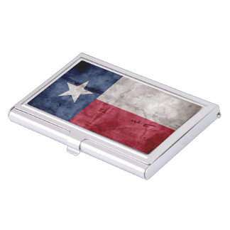Weathered Vintage Texas State Flag Business Card Holder