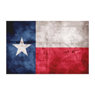 Weathered Vintage Texas State Flag Canvas Print